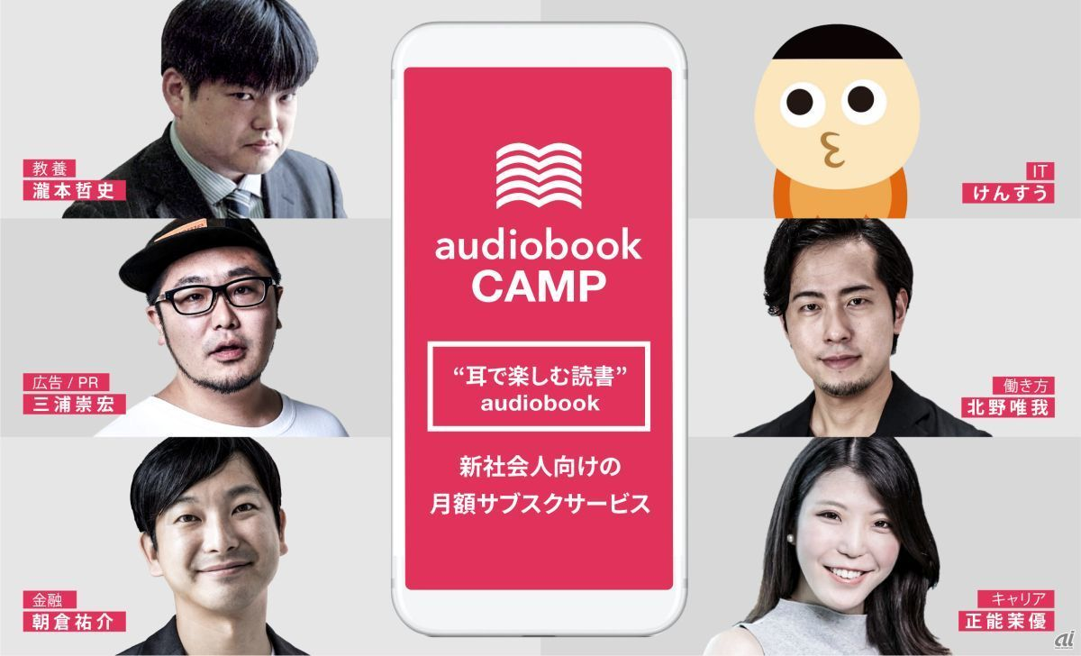「audiobook CAMP」6人のセレクター