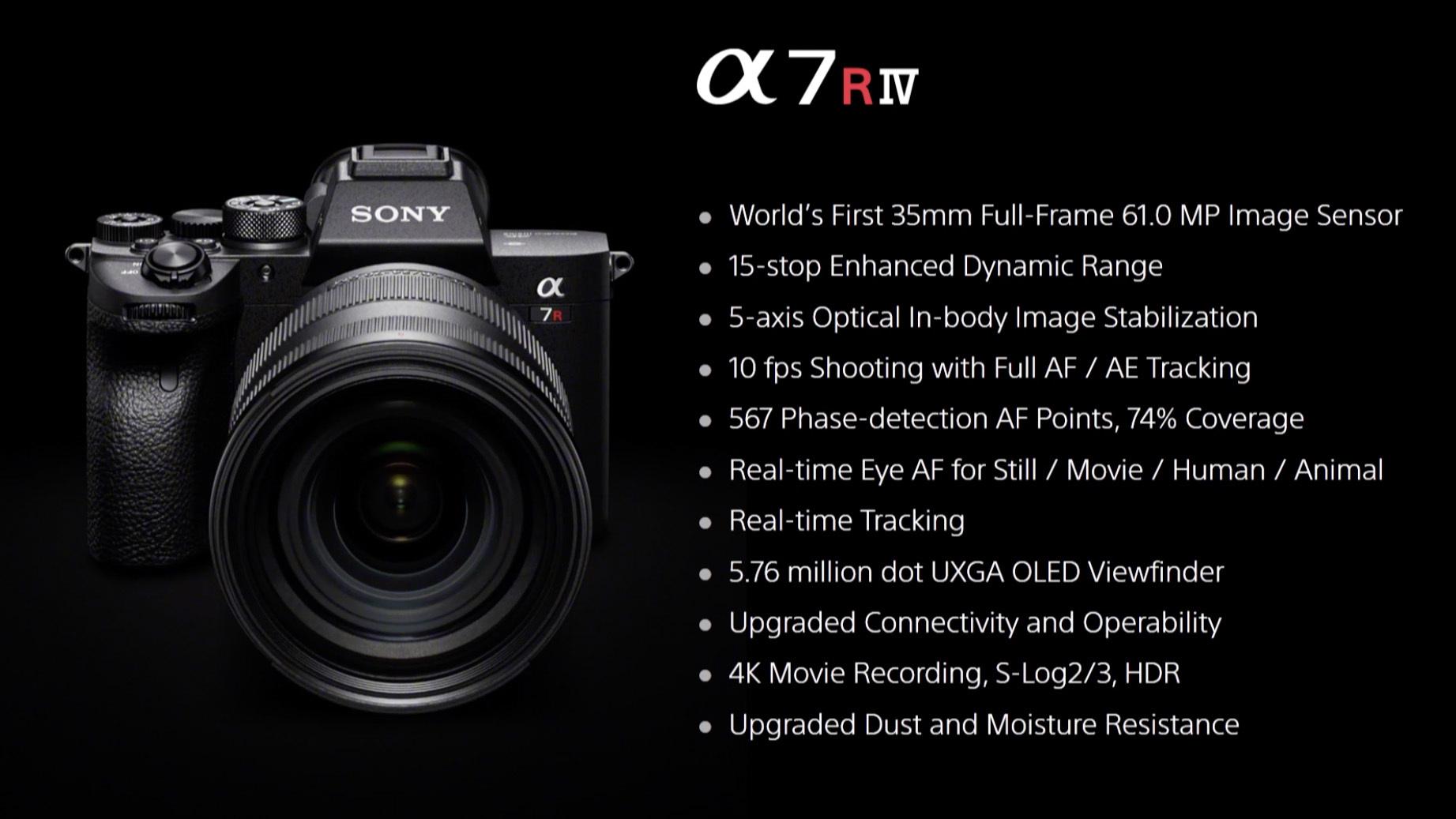 【カメラ】ソニー、世界初の6100万画素センサーを搭載したフルサイズミラーレス「α7RIV」発表