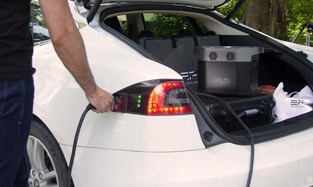 Electric vehicles can be charged [Source: Makuake]
