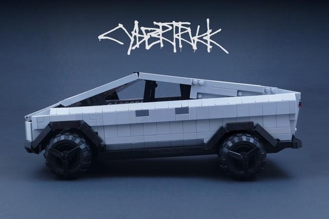 Reproduce Tesla Cybertruck with LEGO blocks [Source: LEGO]