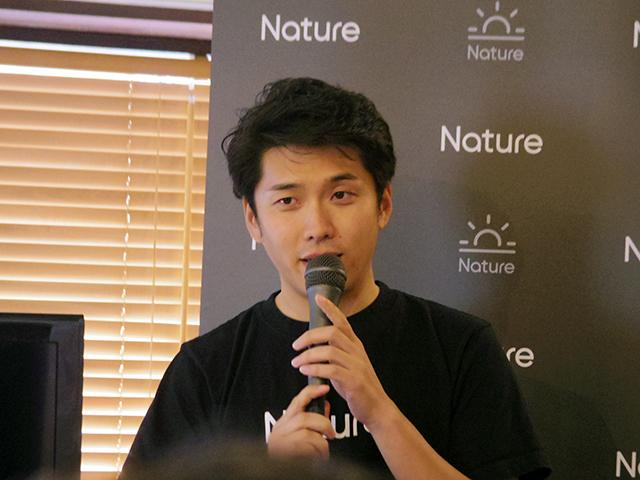 Nature 代表取締役の塩出晴海氏