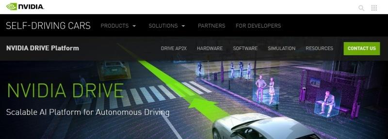 NVIDIA DRIVE, a technology platform for autonomous driving [Source: NVIDIA]