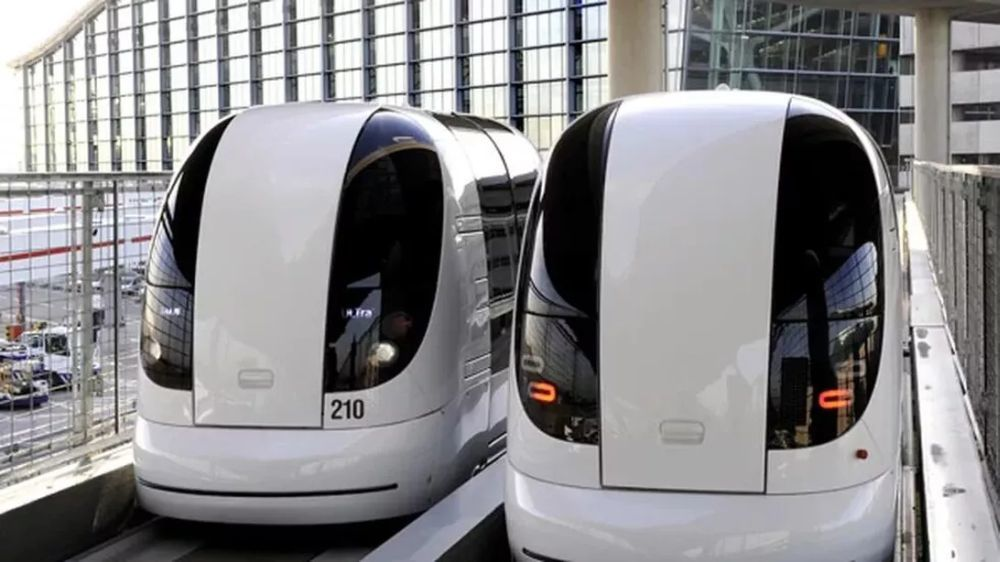 Pods used at London Heathrow Airport
