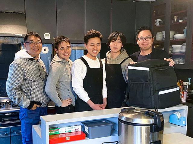 X Kitchen members and Digital Base Capital's representative partner Hayao Sakurai [far right]