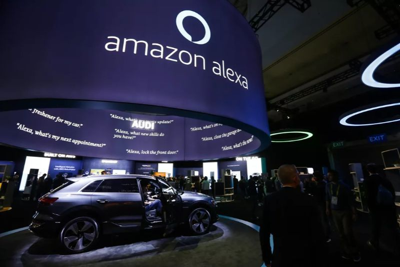 Amazon booth at CES 2019