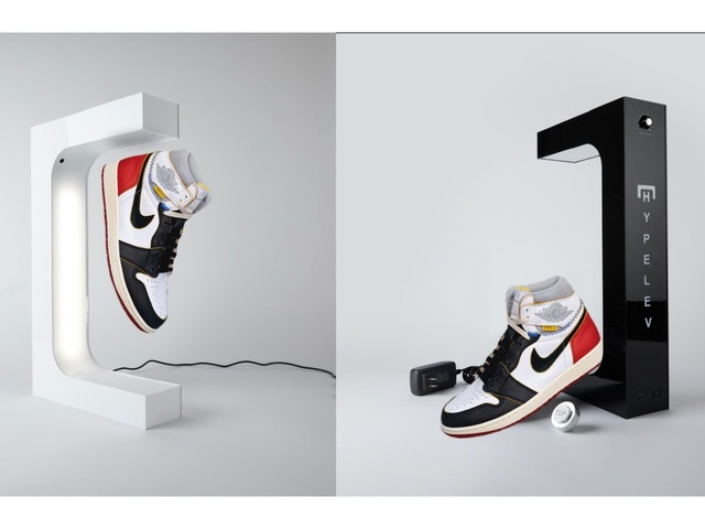 "Photo of "" Hypelev Levitation Display Stand '' that can display sneakers floating in the air"