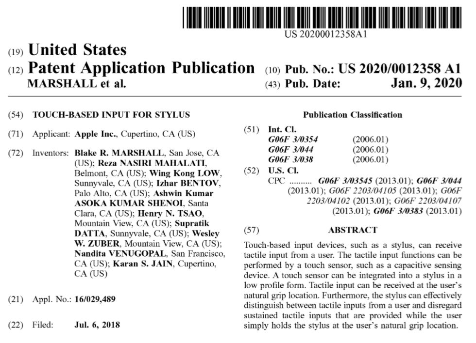 Published Apple patents [Source: USPTO]