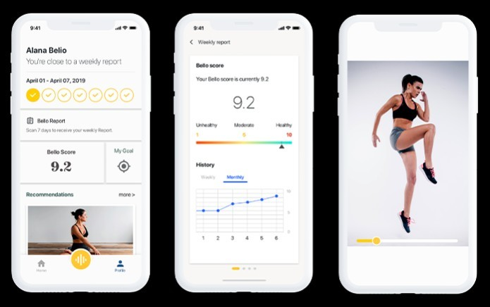 The app advises on diet and exercise [Source: Indiegogo]