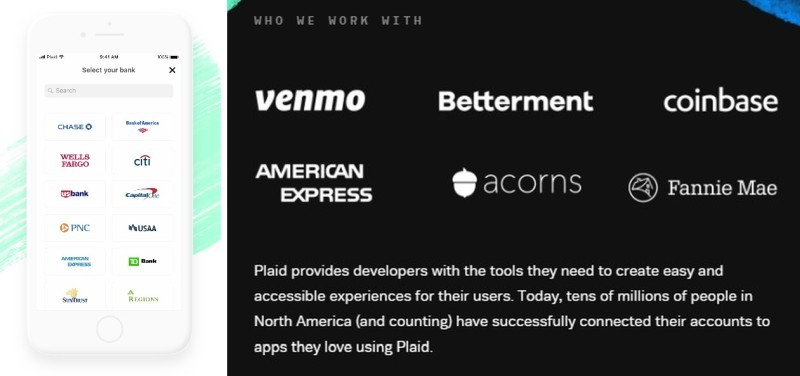 Connecting Apps and Services to Bank Accounts [Source: Plaid]