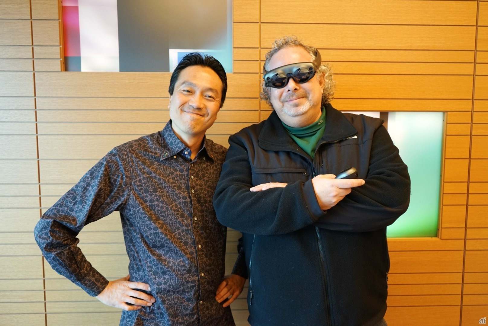 右から、Magic Leap President & CEOのRony Abovitz氏と、同社Design SVPのNatsume Gary氏