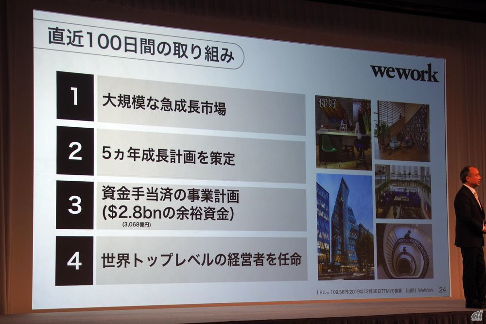 Regarding Wework, which was the main cause of worsening business performance, we will rebuild plans by reviewing plans, investing funds, changing CEO, etc.