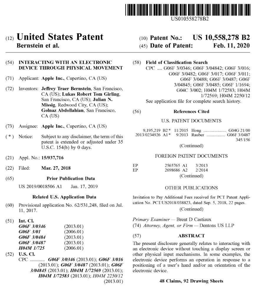 Registered Apple Patents [Source: USPTO]