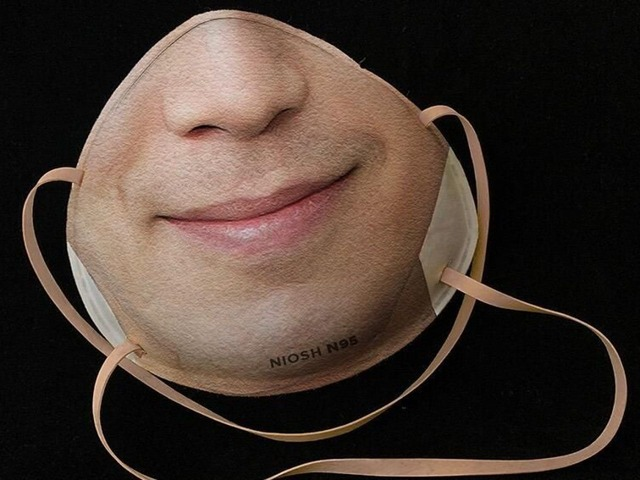 Photo of Face-printed mask, unlocked with face recognition while wearing-designer invented