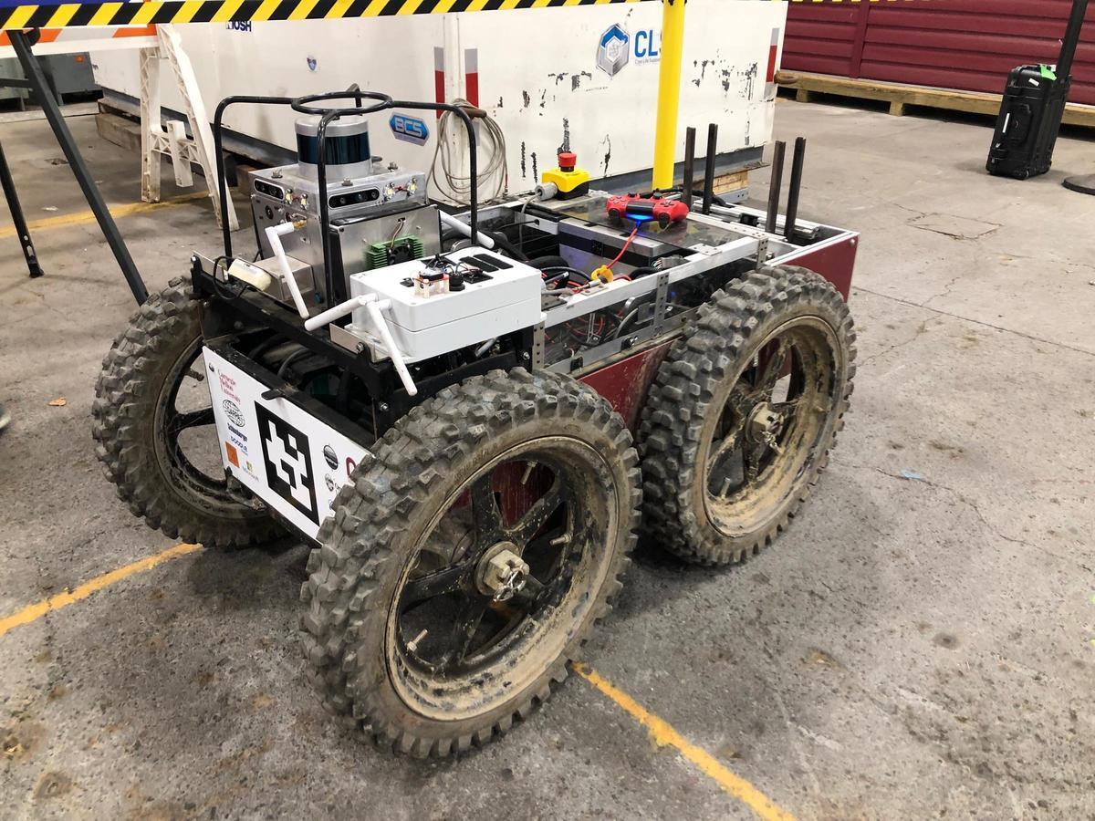 Explorer team's vehicle robot participating in DARPA SubT