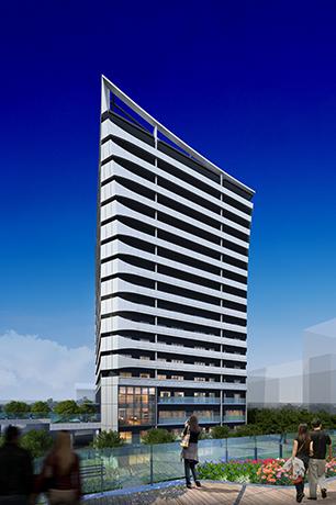 """Tokyo Port City Takeshiba"" Residence Tower exterior"