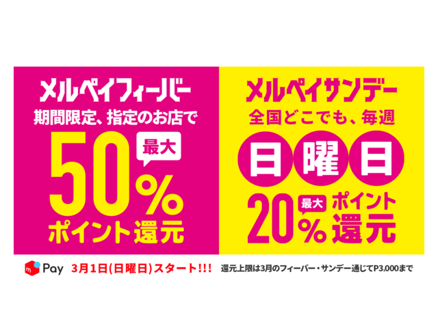 """Photo of """"Melpay Fever"""" that returns up to 50% of the payment amount-3000 points total"""
