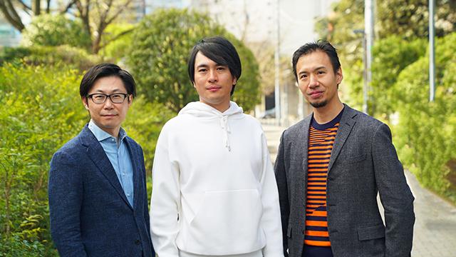 From the left, Toggle COO Ippei Kaneda, Representative Director Yoshimori Ito, CFO Teruaki Asano