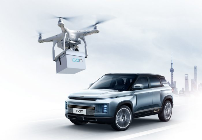 Car keys delivered by drone [Source: Geely Auto]