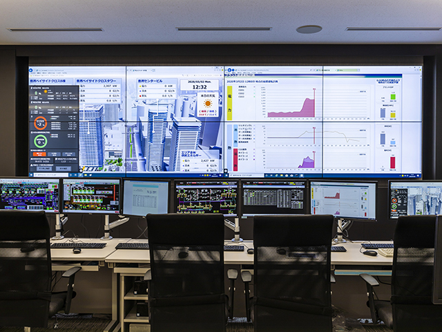 EMS image in the central monitoring room