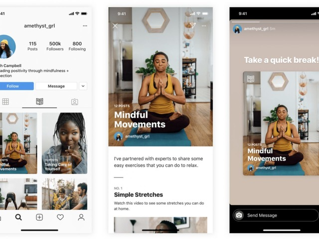 """Photo of New Instagram feature """"Guide"""" makes it easy to discover content related to physical and mental health"""