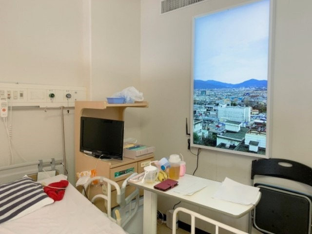 """Photo of Installation of 55-inch 4K smart window """"Atmoph Window Up"""" in intensive care unit–verification of stress reduction effect"""