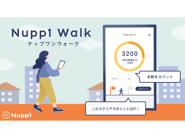 Photo of Walking to earn points–Nupwan, Nupp1 Walk, an app that connects users to the gym