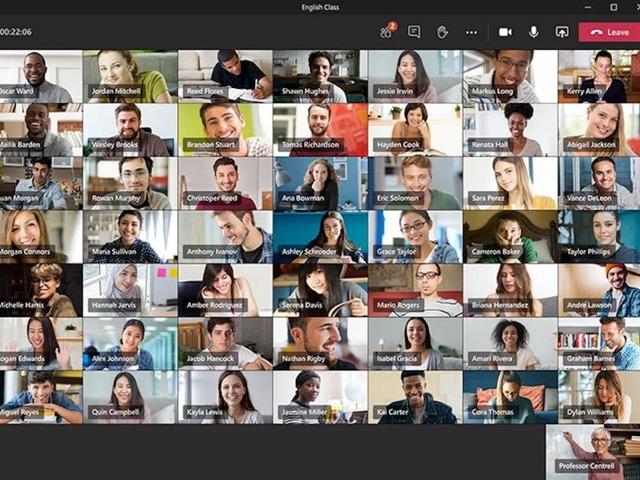 "Photo of ""Microsoft Teams"", 49 people simultaneous display preview in June"