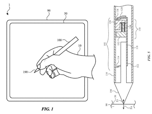 Photo of Apple, stylus that reproduces the feeling of painting brush and canvas on tablet–patented