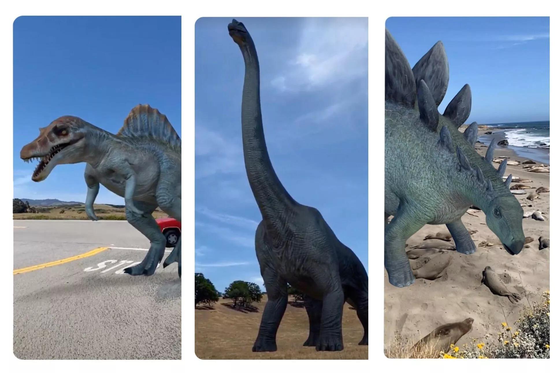 AR dinosaur