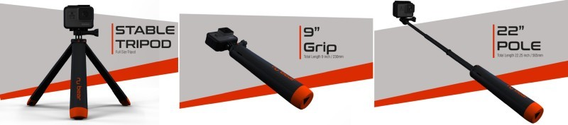For tripods, grips and poles [Source: Indiegogo]