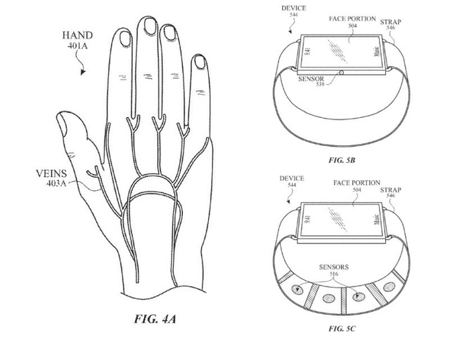 Photo of Apple acquires patent for smartwatch that scans veins in arms and operates gestures