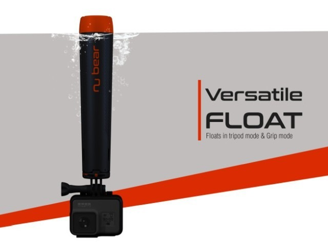 """Photo of A trip tripod """"Nu Grip"""" that floats in water that is perfect for shooting at the sea or river–also for a selfie pole"""