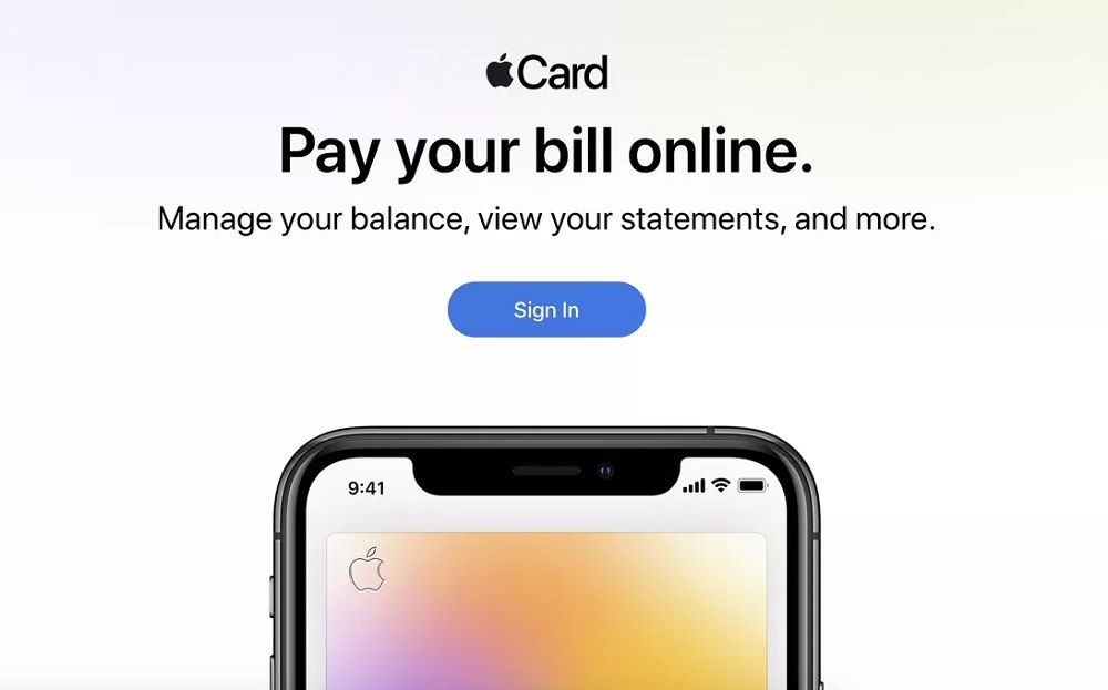 "Portal site for ""Apple Card"" users"