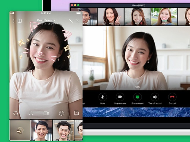 Photo of LINE enables group calls for up to 500 people–more than doubles