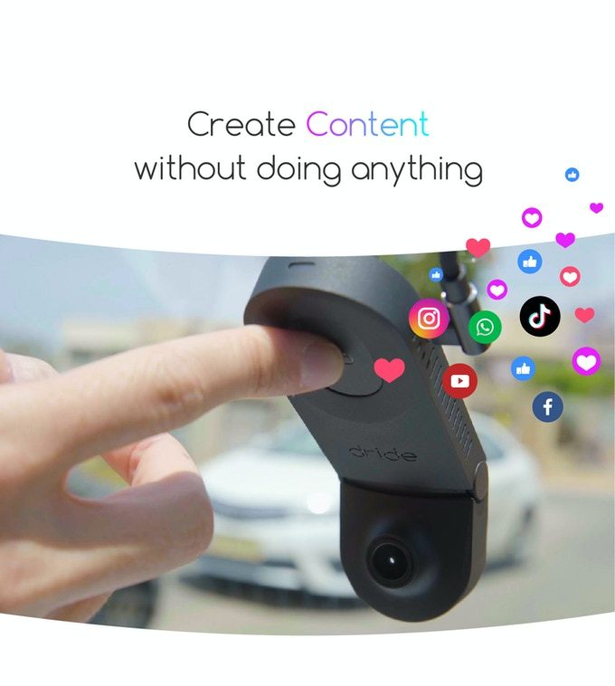 Drive recorder that can be played with the in-car camera [Source: Kickstarter]