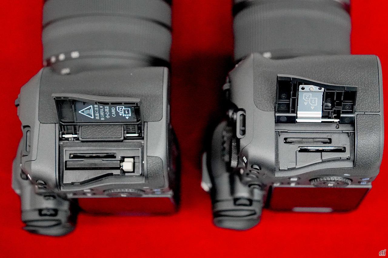 Both have memory card dual slots