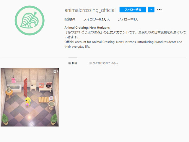 """Photo of """"Atsume Animal Forest"""" official Instagram account opened"""
