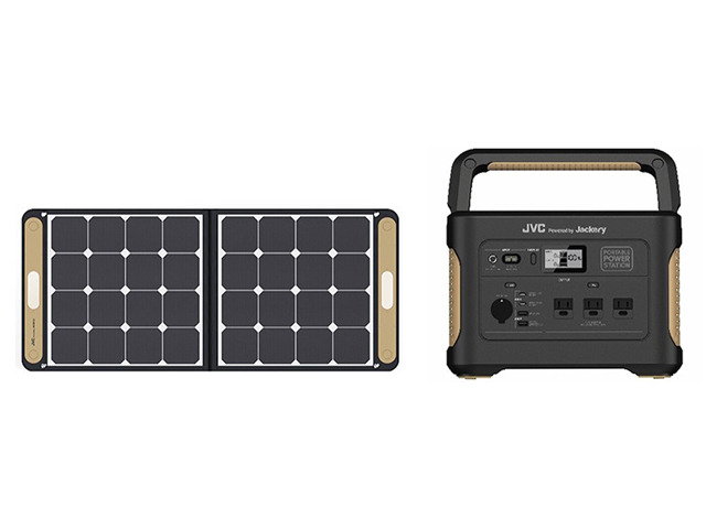 Photo of Large-capacity portable power supply that can be used for JVC, disaster prevention, outdoors, and telework–solar panel
