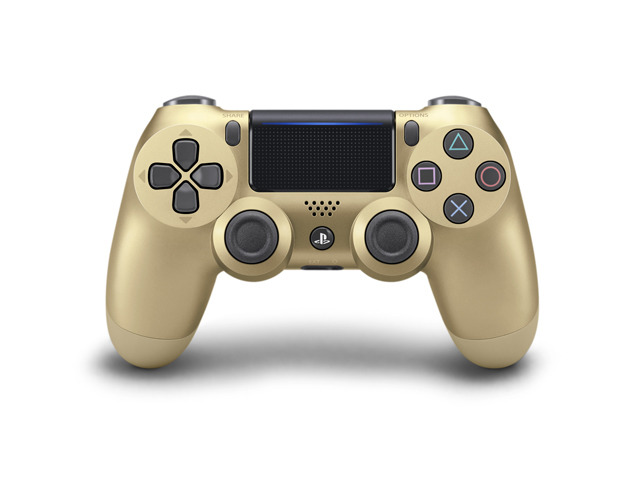 """Photo of SIE, PS4 controller """"DUALSHOCK R4"""" """"gold"""" resale limited quantity model 4 colors"""