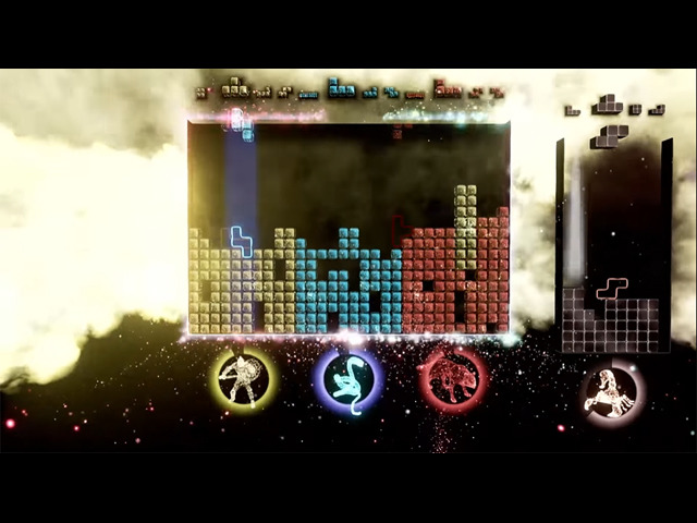 """Photo of """"Tetris Effect Connected"""" with enhanced and multiplayer elements added"""