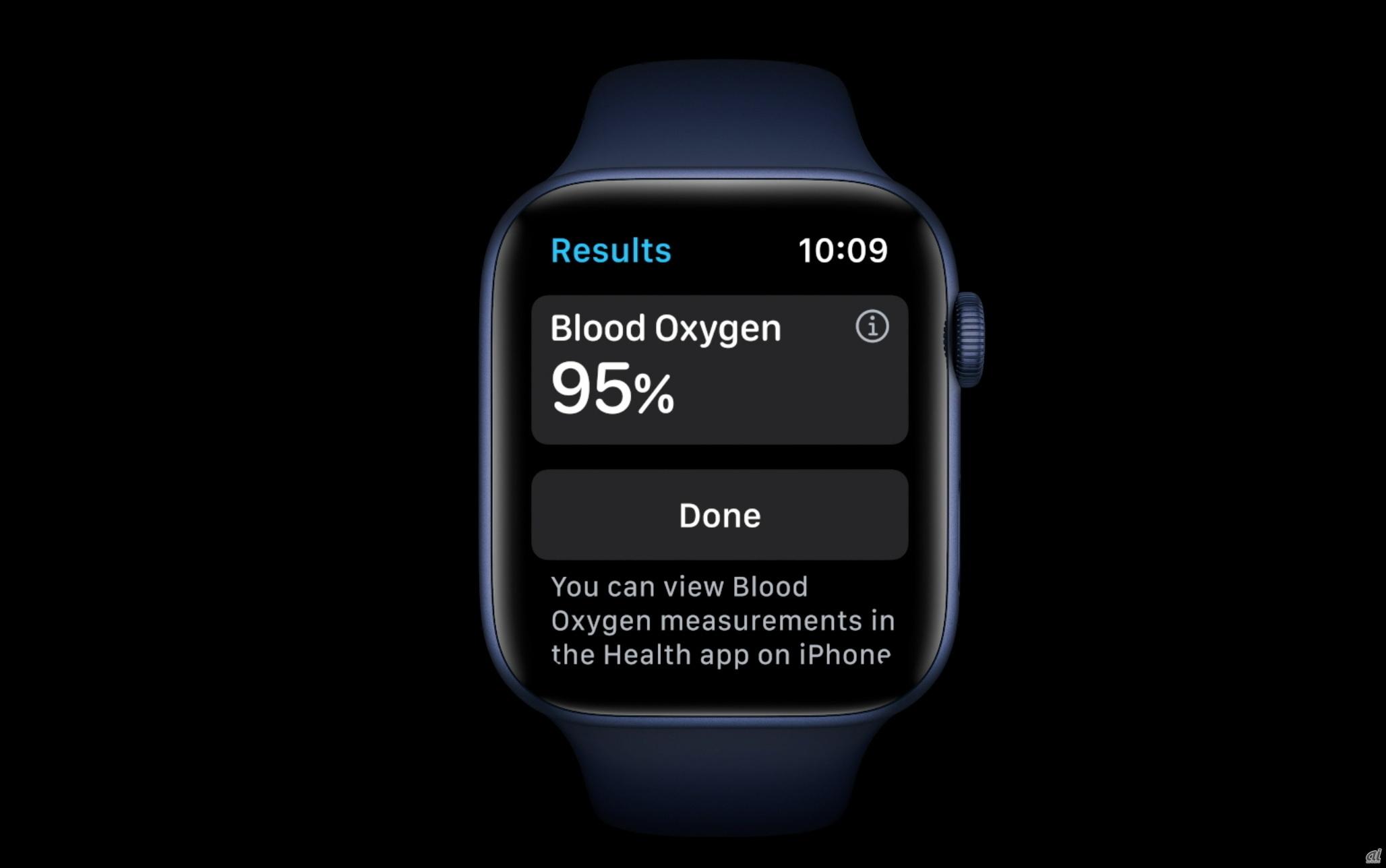 血中酸素濃度を測定できるSeries 6