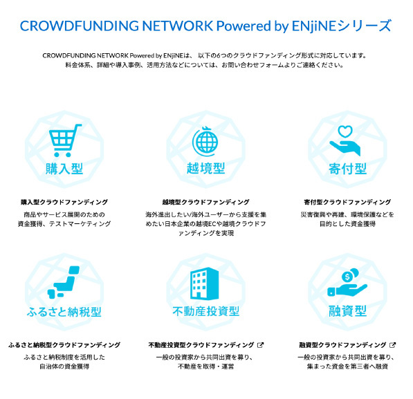 CROUWDFUNDING NETWORK Powered by ENjiNEシリーズ
