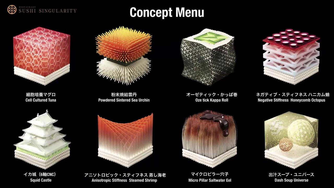 立体的で複雑な構造をもつ、斬新なフードキューブのアイデア