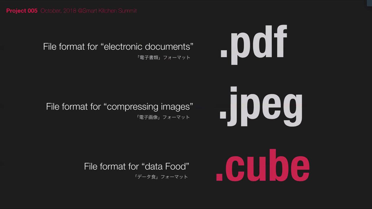 「.CUBE」というファイルフォーマットで食データの標準化を図っている人間の手では作り出せない複雑な形状も実現可能に
