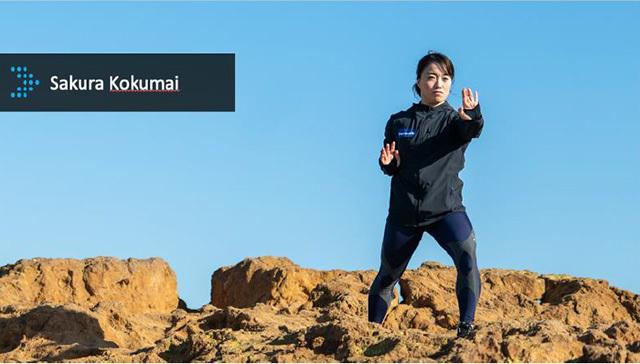 東京オリンピックに空手の型で、米国代表として出場する國米櫻選手