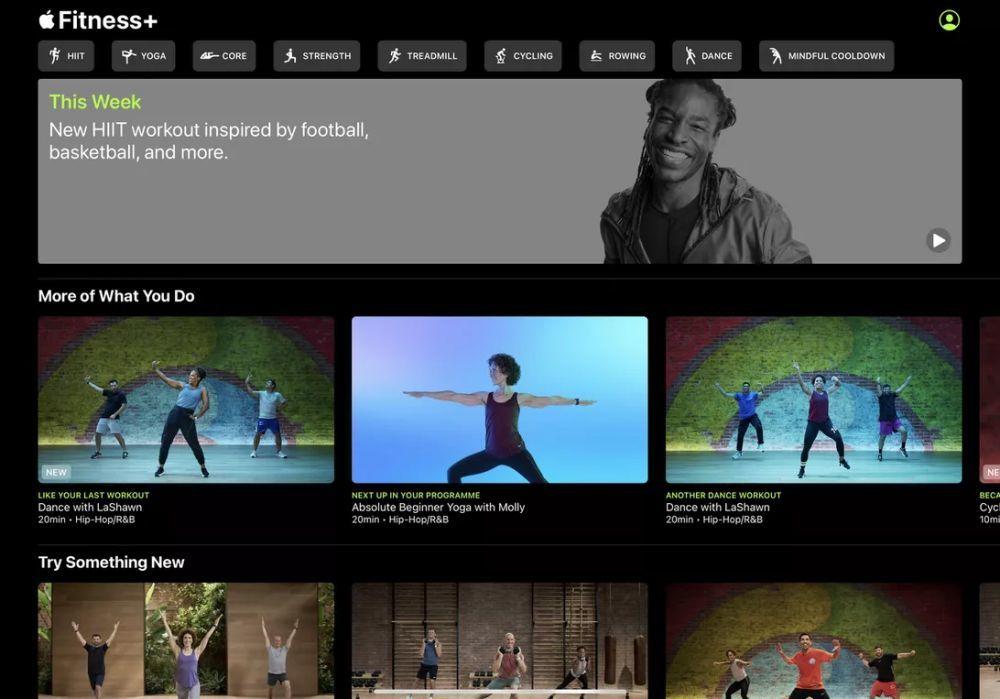 Fitness+のホーム画面