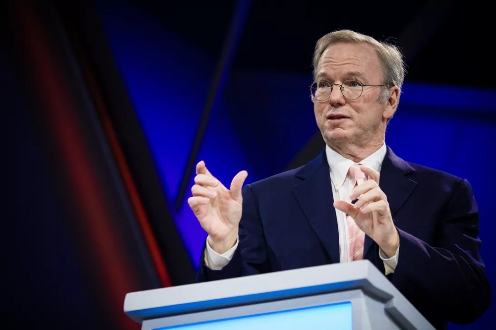 Former Google CEO Eric Schmidt now chairs the NSCAI