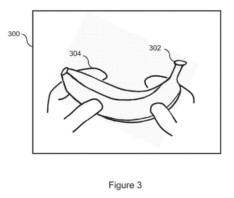手に持ったバナナがゲームコントローラー(出典:USPTO)