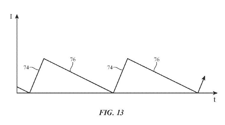 非対称のノコギリ波で振動を発生(出典:USPTO)