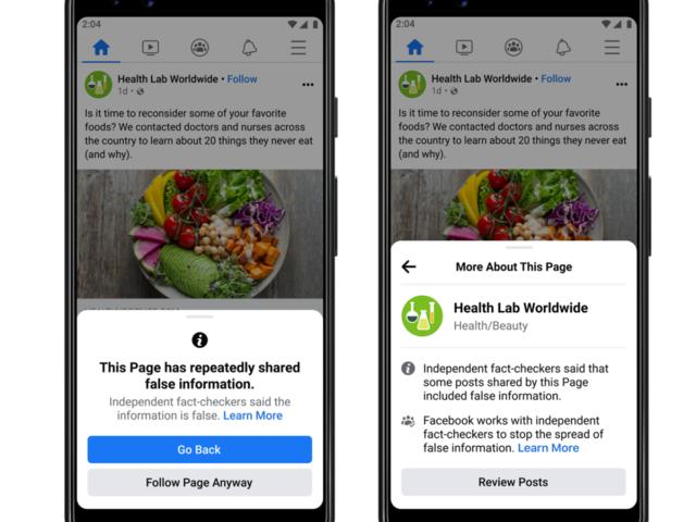 Facebook、偽情報を繰り返し共有するユーザーの全投稿に配信制限